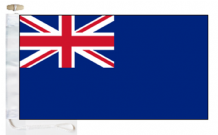Royal Navy Royal Fleet Auxiliary Blue Ensign Courtesy Boat Flags (Roped and Toggled)